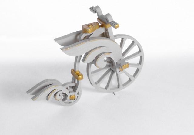 Елочная игрушка - Ретро велосипед 1013  Angel