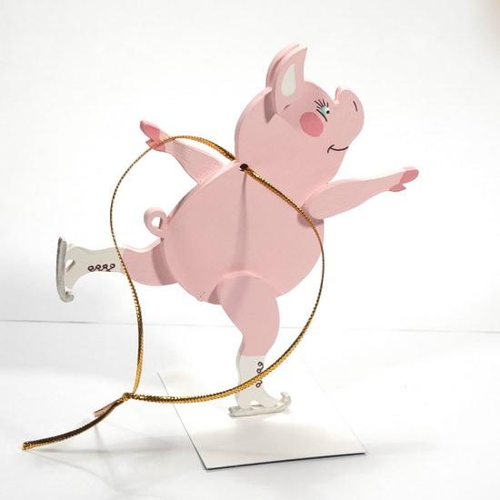 Новогодние украшения: символ 2019 года - Свинка фигуристка 490-1