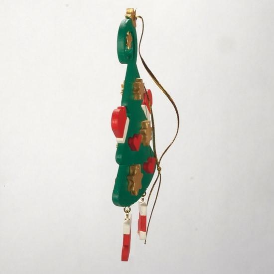 Игрушки ручной работы - Елочка подвеска объемная 6029