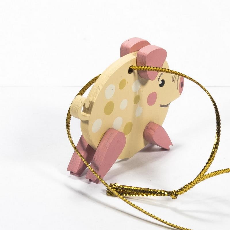 Новогодние украшения: символ 2019 года - Свинка копилка малая 310-2
