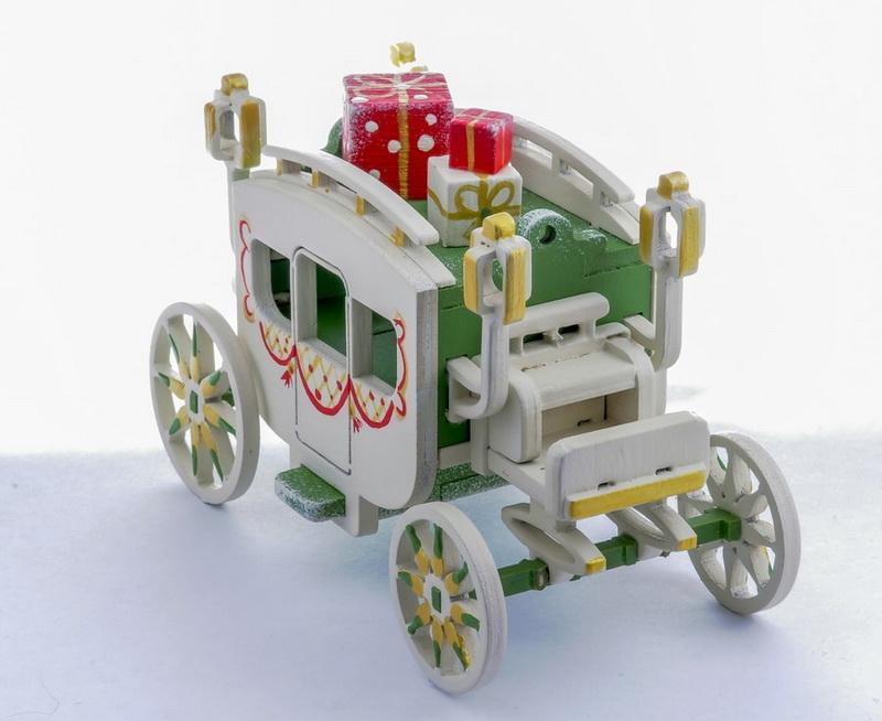 Елочная игрушка, сувенир - Карета крытая 6017 Classic
