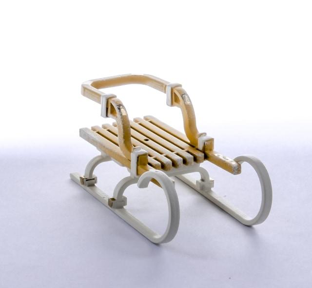 Елочная игрушка - Санки Большие 290-3