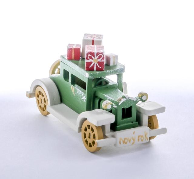Елочная игрушка, сувенир - Машинка легковая 6017