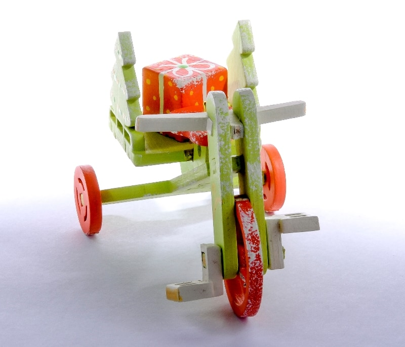 Елочная игрушка - Детский велосипед с багажником 90YY61_504 Tree