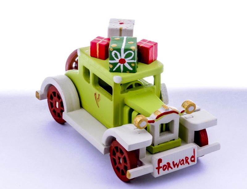 Елочная игрушка, сувенир - Машинка легковая 90YY61_504