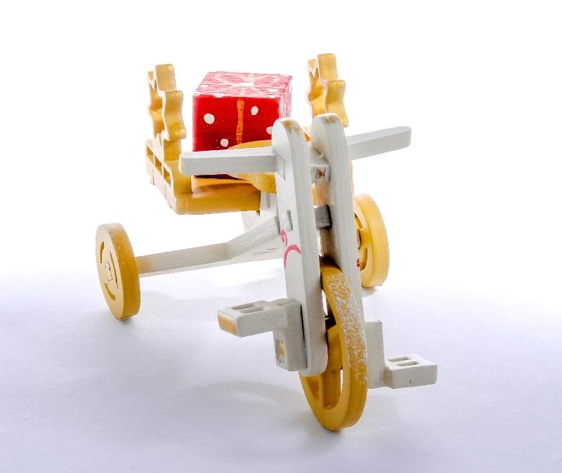 Елочная игрушка - Детский велосипед с багажником 1013 Star