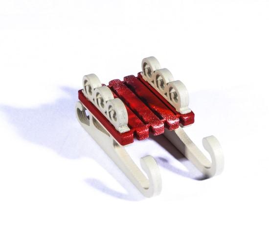 Елочные игрушки: Санки малые 3020 Twirl
