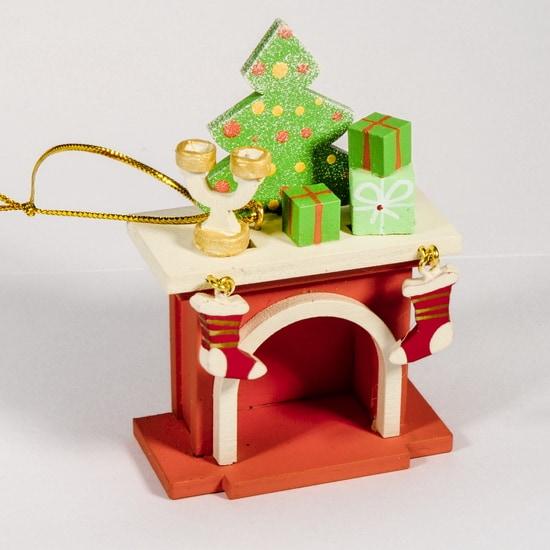 Елочная игрушка - Камин 410-3 S Tree