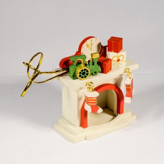 Новогодняя елочная игрушка: Камин 1013 P