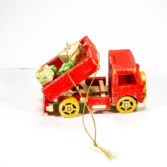 Елочные игрушки: Грузовичок 3020