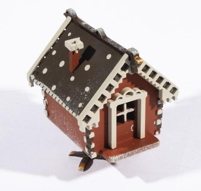 Елочная игрушка, сувенир - Избушка на курьих ножках 360-5