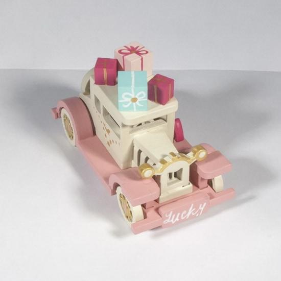Новогодние украшения для дома: Машинка легковая 1013 Pink chassis