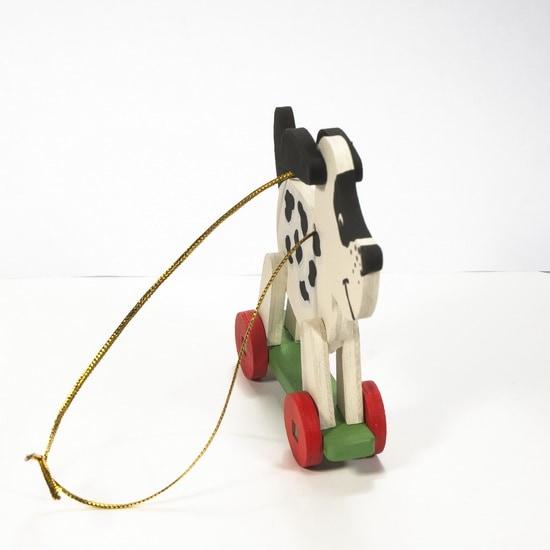 Елочные игрушки - Дворняжка белая 1013 Black Spots