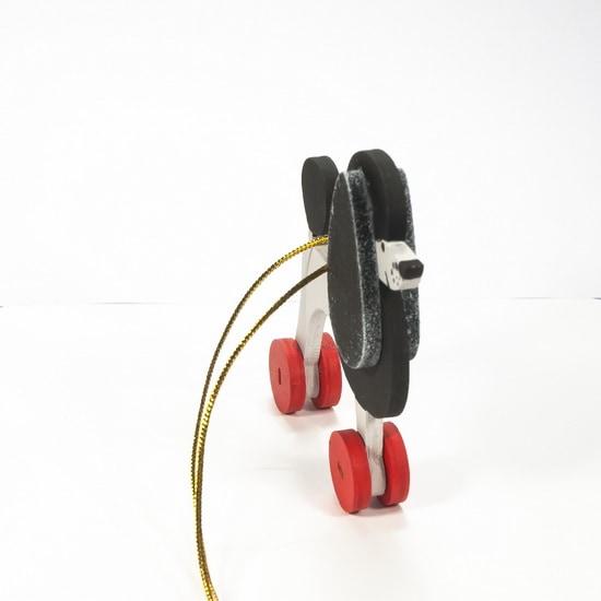 Елочная игрушка - Пудель черный 9005