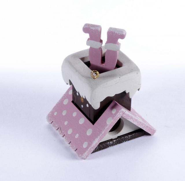 Елочная игрушка - Домик с ногами Санта Клауса 3015