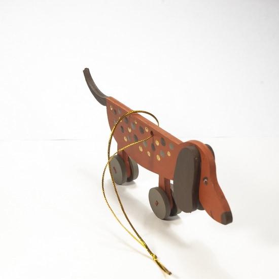 Елочная игрушка - Такса пряничная 360-5