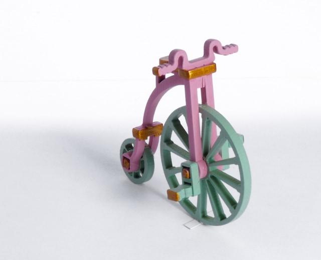 Елочная игрушка - Ретро велосипед 3015 Classic