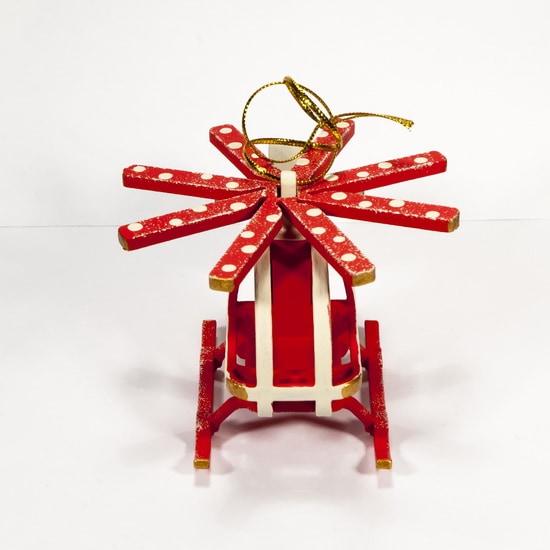 Елочная игрушка - Вертолет малый 1013 Red Cabin
