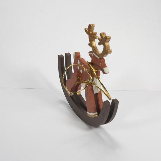 Елочные игрушки - Олень на качалке 360-5