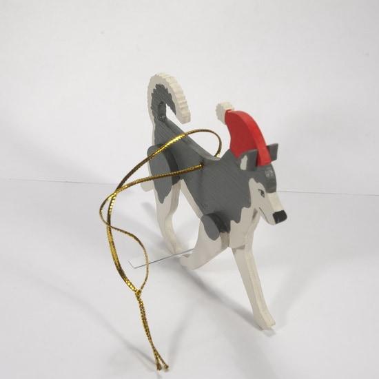 Елочные игрушки - Хаски 7012