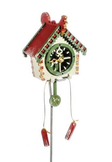 Новогоднее украшение для елки - Часы с маятником 1013 Red Roof