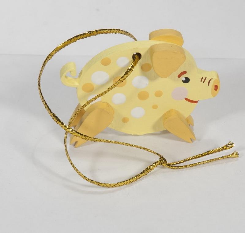 Новогодние украшения: символ 2019 года - Свинка копилка малая 270-1