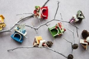 Елочные игрушки из дерева. Ручная работа