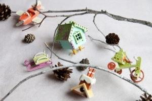 Сувенир, елочная игрушка из дерева ручной работы