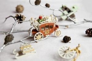 Елочная игрушка, сувенир ручной работы из дерева