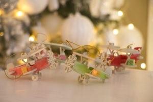 Новогодние украшения из дерева: самолетики