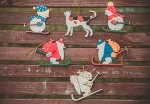 Елочные игрушки, сувениры из дерева, ручной работы