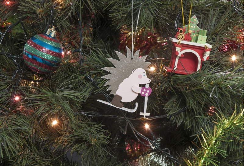 Новогодняя игрушка - Ежик на лыжах 490-1