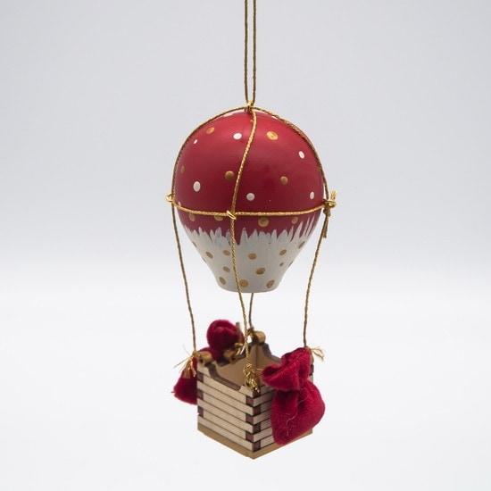 Елочные игрушки ручной работы: Воздушный елочный шарик 3020