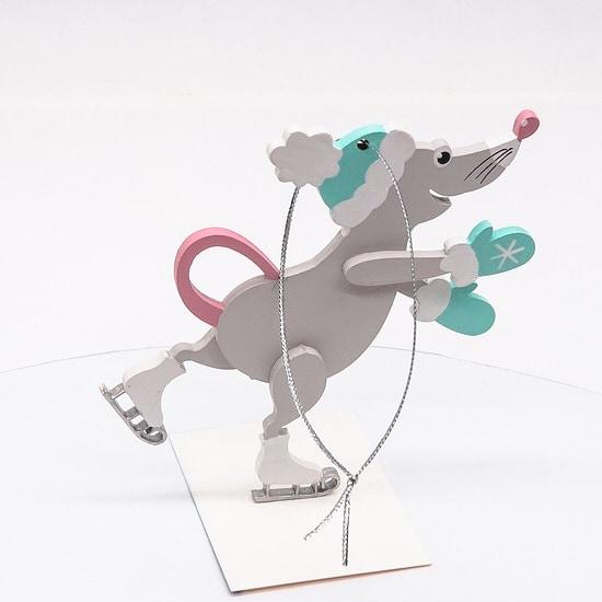 Новогодние украшения: символ 2020 года - Крыса фигуристка 7047