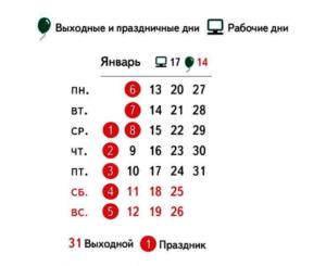 Календарь новогодних праздников 2020